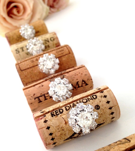 wine cork place card holder wedding place card holders bling