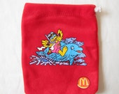 McDonald's Birdie the Early Bird little red drawstring pouch