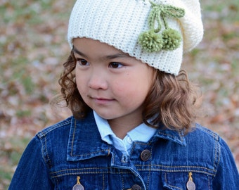 CROCHET PATTERN - It Girl Slouchy - crochet slouchy hat pattern, crochet hat pattern (Toddler, Child, Adult sizes) - Instant PDF Download