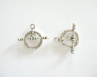 2 Toggle Clasps, Lead Free Pewter
