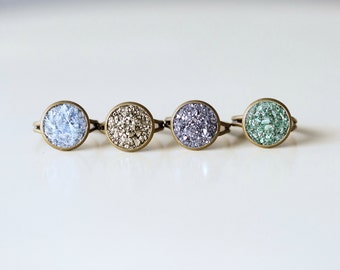 Crushed Crystal Druzy Ring
