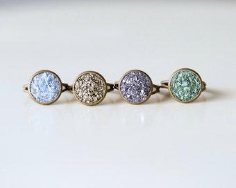 Crushed Crystal Druzy Ring