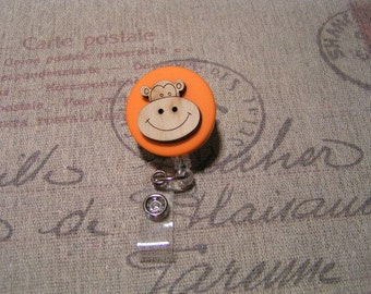 Hippo Badge Reel, Retractable Badge Reel, ID Holder, Badge Clip