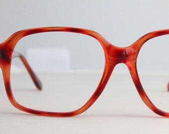 Vintage 80's Cinnamon Tortoise Eyeglasses Frames