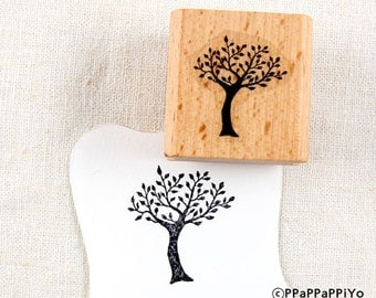 50% OFF SALE Tree Rubber Stamp