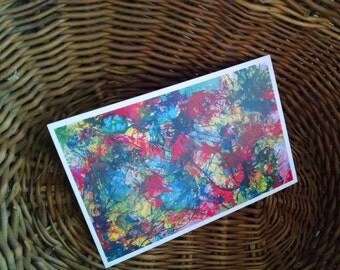 P15 - Colorful Rainbow Abstract Expressionism Card