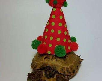 Tortoise Hat,Red Hat, Party Hat, Birthday Hat, Pet Costume, Tortoise Costume, Birthday Hat, Turtle Costume