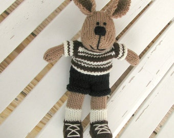 Soft Bunny Toy - Bunny Doll - Bunny Kids - Knit Boy Toy - Boy Toy - Plush Doll - Stuff Animal - Stuff Bunny - Knit Toy - Kids Toy Sam