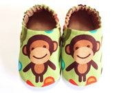 Monkey Baby Boy Shoes, Baby Booties, Baby Soft Shoes, Baby Gift