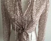 Beautiful silk paisley lightweight blouse summer