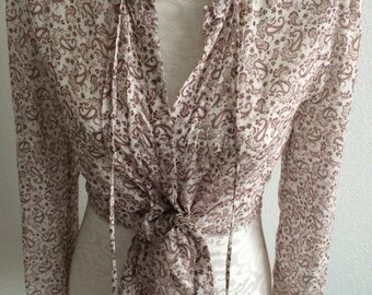 Beautiful silk paisley lightweight blouse summer