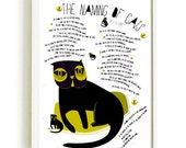 Black Cat Prints And Posters 10 Cat Poetry-  The Naming Of Cats  by T. S. Eliot - art print by nicemiceforyou