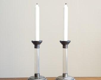 50% OFF Spring Sale - Vintage Lucite Candlesticks Candle Holders