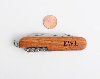 Engraved Pocket Knife, Personalized Groomsmen, Ring Bearer, Graduation Gift, Multi Tool Knives