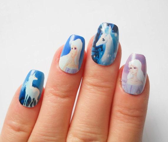 Items similar to The Last Unicorn - Fake Nails, False ...