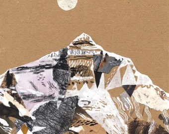Illustration art print Mountain art Everest A3 Print (11.69 in x 16.54 in)