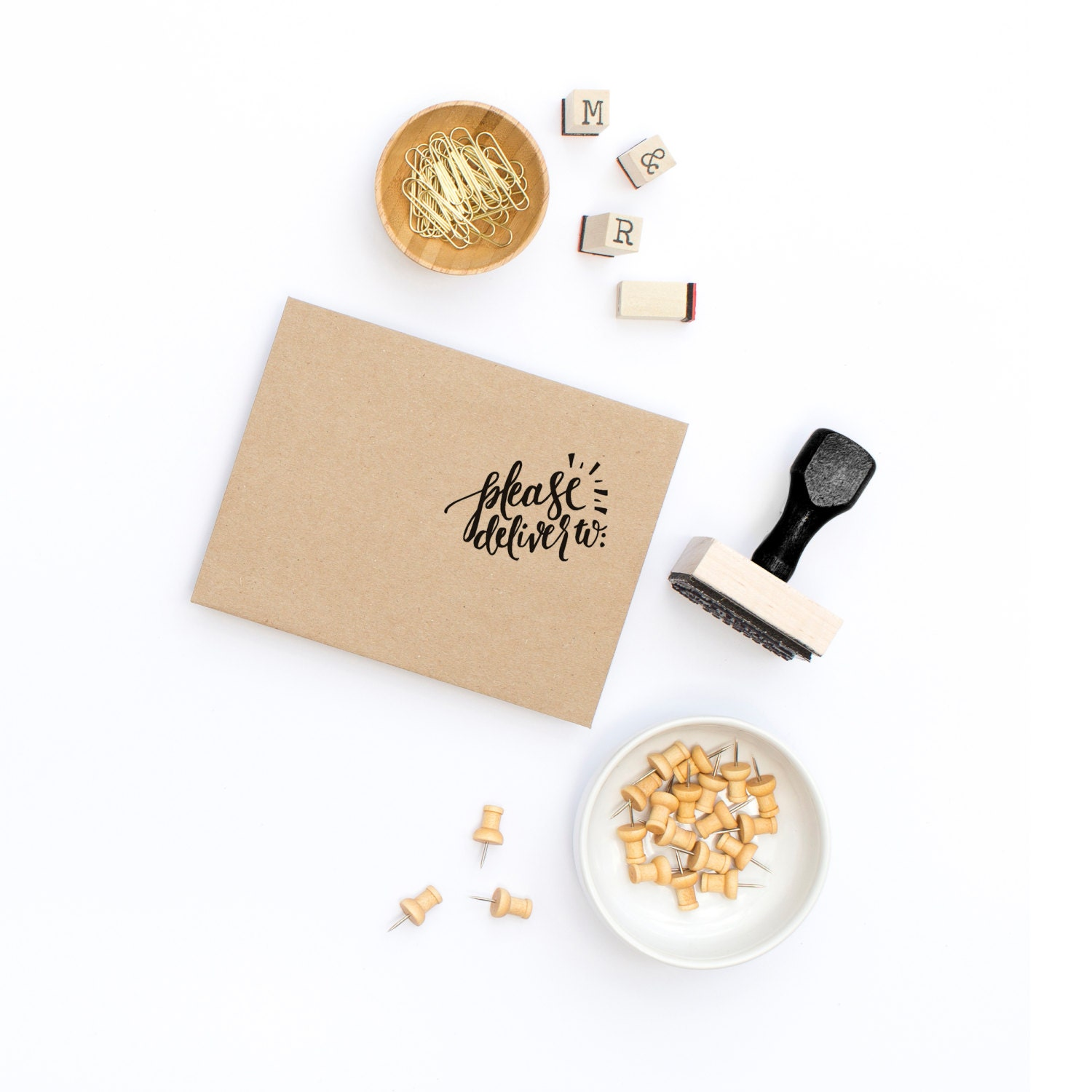 Hand Lettered Stamp Rubber Stamp Calligraphy Stamp