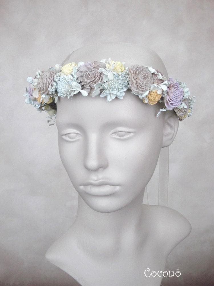 Bridal Flower Wreath For Hair : Bridal hair wreath wedding flower headpiece crown