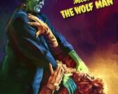Frankenstein Meets the Wolf Man **PAPER PRINT**