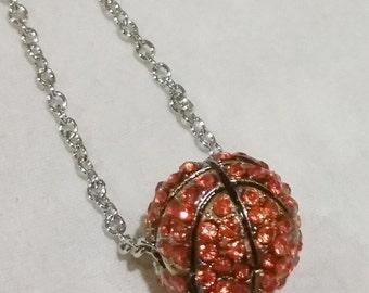 New Basketball Rhinestone 3d charm Necklace