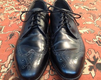 "Vintage ""Breather"" Wright Wingtip Shoes Size 10 1/2"" C"