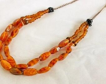 Pumpkin Orange Jewelry Set