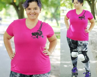 Never leave home without Your Roller Skates, Roller Derby T-Shirt