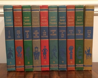 Collier's Junior Classics - 10 Volumes of Illustrated Stories for Children - Hardcover 1962
