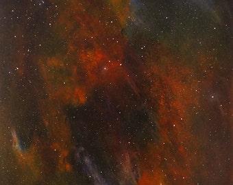 Space Painting Original Space Art Nebula