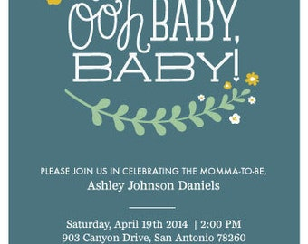 Ooh Baby, Baby! Digital File for Baby Shower Invite
