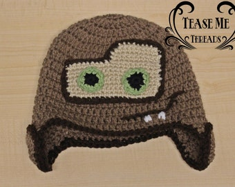 Mater from Cars Movie Crochet Hat_Tow Mater Halloween Hat_ Disney Cars Mater Hat