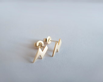Tiny  Lightening Stud Earrings Stud Earrings - Gift for her