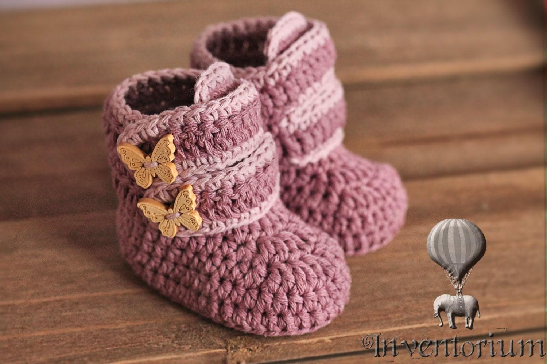 Crochet Pattern Baby Booties Crochet Boots by Inventorium ...
