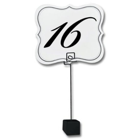 Table number place card or card holder freestanding with for Table number holders