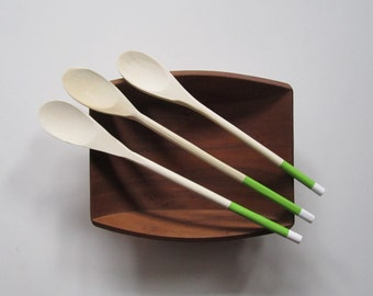 Wooden Spoons - Colored Spoons - Painted Wooden Spoon - Wood Spoon - Hand-Painted Spoons - Modern Wooden Spoons - Kitchen Spoon