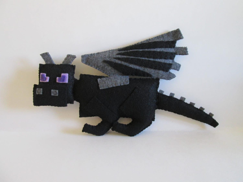 Amigurumi Ender Dragon : Ender Dragon Plush Inspired by Minecraft Black Dragon Plush