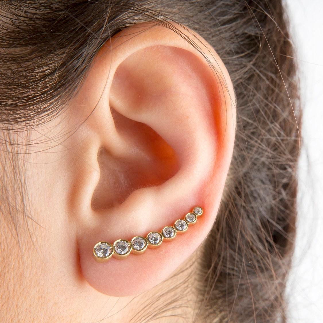 silver ear cuffs sterling silver earrings swarovski wrap. Black Bedroom Furniture Sets. Home Design Ideas