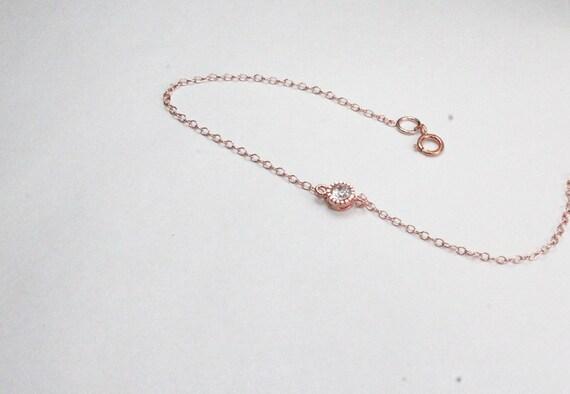 dainty cz diamond bracelet rose gold braceletrose gold