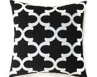 black pillow 16x16 pillow cover decorative pillows moroccan couch pillow modern accent - Black Decorative Pillows