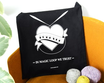 "Magic Loop Tote -  ( sac sérigraphié ""magic loop"" )"