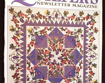 Quilter's Newsletter Magazine - March 1998 - Strip Pieced Quilt Pattern and Many More Quilt Patterns and Instructions in this issue