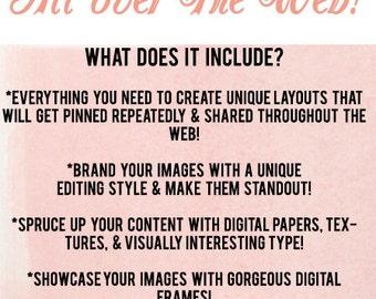 Blog Design Collection - COMPATIBLE with: Photoshop + Photoshop Elements