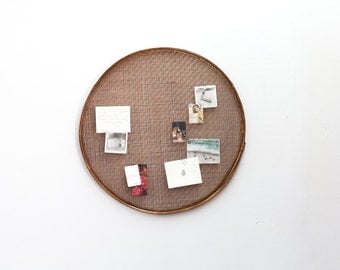 French Rush Sieve Used as Inspiration Board