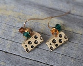 Cheese Head Earrings, Green Bay Packers Cheese Earrings