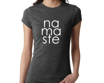 yoga shirt - Namaste shirt, Yoga Shirt, Yoga Top, ladies namaste shirt, Yoga Tank, Om Shirt,  Ladies Shirt, gym shirt, fitness shirt, #LS79