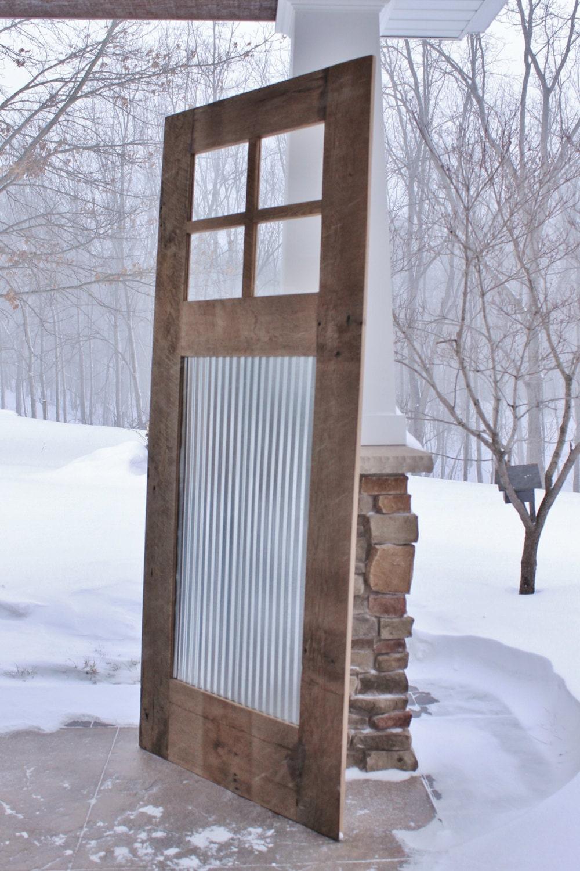 Custom for d spain rustic barn door sliding barn door for Custom sliding doors