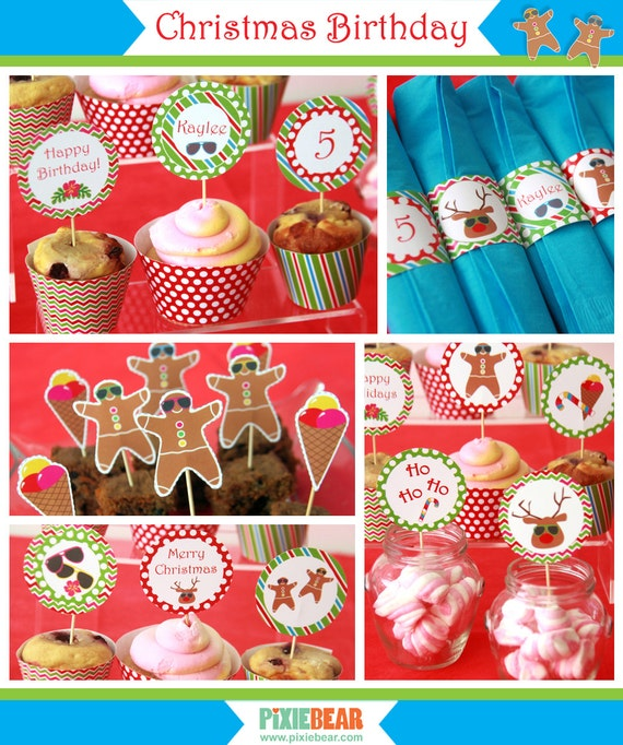 Christmas birthday party christmas downloads christmas for Christmas in july party ideas