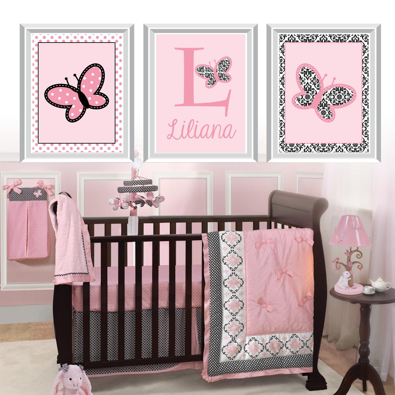 baby girl nursery art prints butterfly nursery art. Black Bedroom Furniture Sets. Home Design Ideas