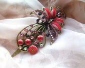 Handmade from polymer clay Flower Field Hair Accessories Hairclip