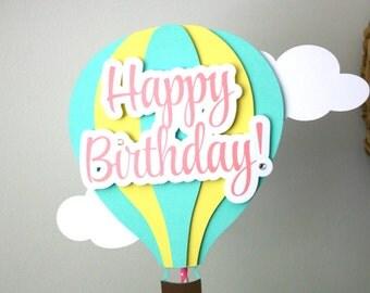 Hot Air Balloon Centerpiece Hot Air Balloon Decorations Baby Shower  Decorations Birthday Centerpieces